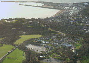 Aerial view of Connaught Barracks site